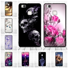 "For Huawei P9 Lite Case Luxury Relief Printed Back Cover for Huawei P9 Lite P 9 lite 5.2"" Soft Silicone Coque for huawei P9lite"