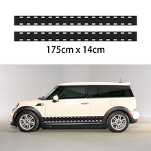 2X Car Vinyl Decals Graphics Sticker Body Decals Checkered Flags for Mini
