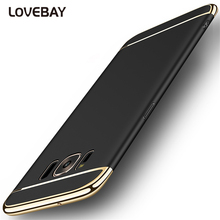 Lovebay Luxury 3in1 Design Phone Case For Samsung Galaxy S7 S7 Edge S8 S8 Plus Electroplated Hard PC Shockproof Phone Case Cover(China)