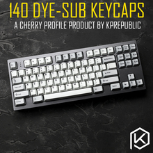 kprepublic 140 Cherry profile Dye Sub Keycap Set thick PBT plastic keyboard gh60 xd60 xd84 cospad tada68 rs96 zz96 87 104 fc660(China)