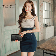 Buy YaLiShi 2017 Summer Office Patchwork O-neck Sleeveless Sexy Dress Bandage Bodycon Dresses Women Party Vestidos De Fiesta Mujer for $27.00 in AliExpress store