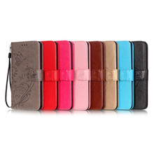 8 Colors Fower Butterfly Cover Case For Samsung Galaxy S2 Case Flip Luxury PU Leather Stand Wallet Case For Galaxy SII Case