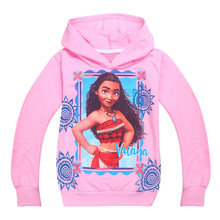 Girls Hooded Moana Vaiana Coat Children's Sweatshirts for Girls Cartoon Kids Outwear for Boys T Shirts Moana Costume(China)