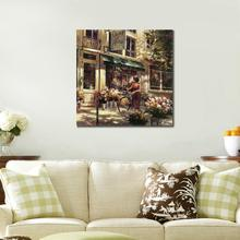 Birthday gift Flower Market Street buy Street View  canvas painting hd prints