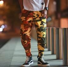 Personnalité de mode Camouflage pantalon hommes pieds pantalon pantalones  hombre cargo Lâche multi-poches harem fa86812cc57