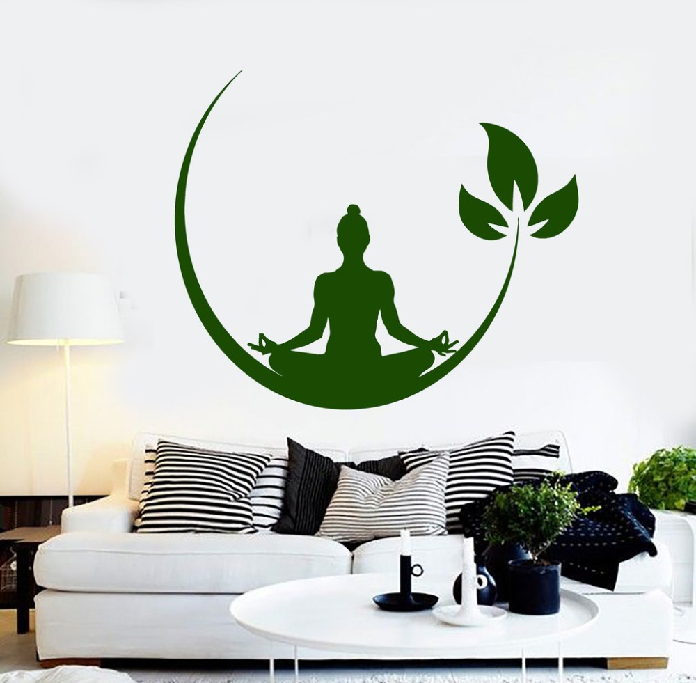Online get cheap wall decals designs aliexpress alibaba group yoga meditation room vinyl wall stickers buddhist zen wall decal design removable wall sticker decor yoga amipublicfo Image collections