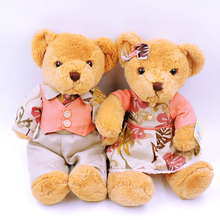 (2pcs/Lot) 30CM Small Couple Teddy Bears Plush Toys Stuffed Soft Children Dolls Girls Kids Gifts Bear Toy Collection