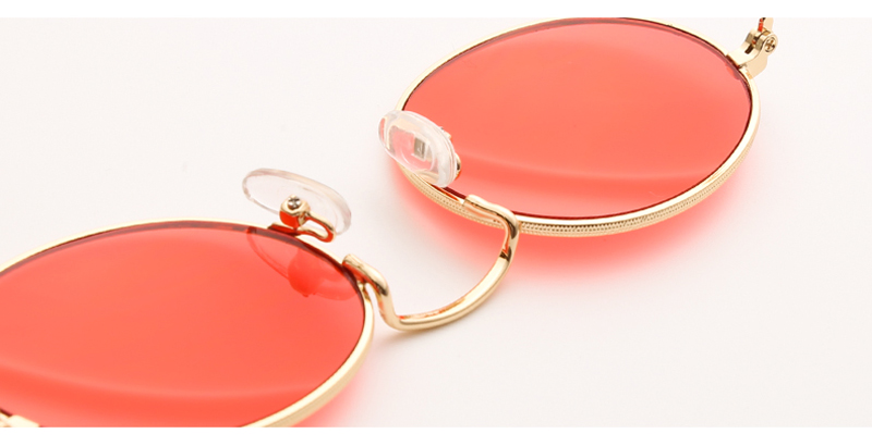 small oval sunglasses women red 0305 details (9)