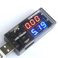 USB Current Voltage Charging Detector Mobile Power Current and Voltmeter Ammeter Voltage USB Charger Tester Double Row Shows