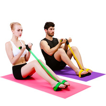 Sport Fitness Equipment Multi-purpose Pedal Exerciser Sit-ups Tummy Action Resistance Bands Yoga Pull Rope Waist Ab Exercise(China)