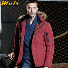 Men coats thick degree mens red fur hooded jacket original parka coats for men clothing male winter jacket GQ223