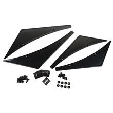 1 Set 4x Universal Carbon Fiber Car Front Bumper Lip Splitter Fins Body Spoiler Canards Valence Chin For Auid BMW Lada VW