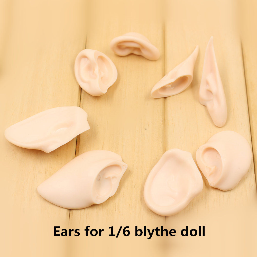 Blyth-doll-Resin-material-White-skin-Groove-Ears-for-the-12-inches-1-6-doll-Blthe_