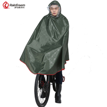 Rainfreem Impermeable Raincoat Women/Men Thick Bicycle Rain Poncho Plaid Oxford/Knitting Jacquard Women Waterproof Rain Gear(China)
