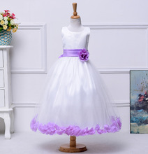 3t 10 12 14 years Girls easter dresses teenagers baby Princess flower wedding birthday dress ceremony little girls evening gowns(China)
