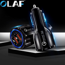 Olaf Auto USB Lader Snel Opladen 3.0 2.0 Mobiele Telefoon Oplader 2 Port USB Fast Car Charger voor iPhone Samsung tablet Auto-Oplader(China)