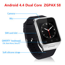 Android 4.4 Smart watch S8 Wrist 3G watch support TD Screen 5M HD Camera TF 32G speaker SIM MAP GPS WIFI receive call music(China)