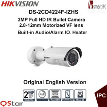 Hikvision Original English Version DS-2CD4224F-IZHS 2MP Full HD Motorize IP Camera Heater Face&Audio detection CCTV Camera