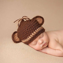 Baby Monkey Hat Newborn Knit Hat Knit Monkey Hat Baby Boy Photo Prop Baby Girl