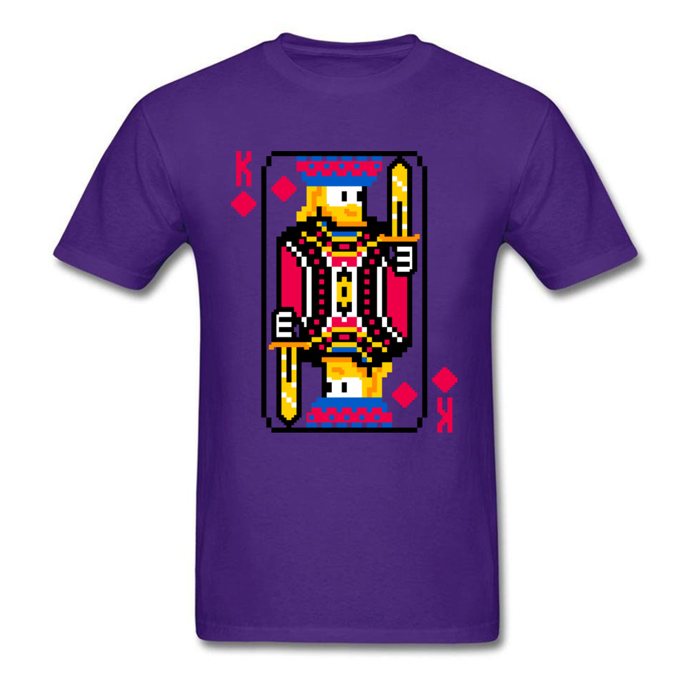 King of Diamonds Graphic Mens T Shirt Crewneck Short Sleeve Cotton Tees Summer T-shirts Free Shipping King of Diamonds purple