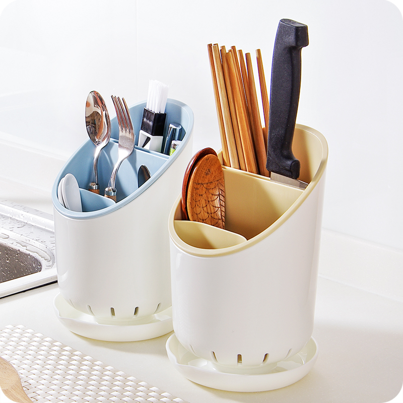 3 grid Plastic chopsticks cage Spoon Tableware Storage Box Fast Draining Water Cutlery drain rack shelf kitchen accessories<br><br>Aliexpress