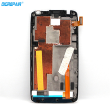 Black New 100% Tested For HTC One X AT&T LCD Display Digitizer Touch Screen Full Assembly + Bezel Frame Free Shipping