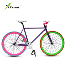 Original X-Front brand fixie Bicycle Fixed gear bike 46cm 52cm DIY single speed road bike track fixie bicycle fixie bike(China)