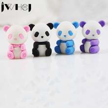 1 pcs JWHCJ Cute cartoon panda eraser Kawaii stationery school office supplies correction supplies child's toy gifts