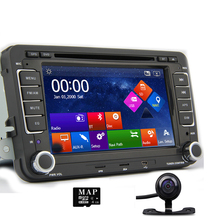 "7"" Capacitive touch screen Car DVD GPS built-in Can Bus Original VW UI for Vollkswagen VW POLO PASSAT B6 Golf 5 6 Skoda Octavia"