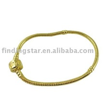 100 PCS OF FASHION BRACELETS GOLD PLATE CHARM BRACELTS MIXED SIZE 16CM-23CM FREE SHIPPING(China)