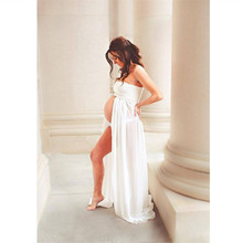 Sexy Pregnancy Maternity Dress Chiffon Maternity Clothes Pure Strapless Dresses Pregnant Women Mopping Clothing for Photo Shoots