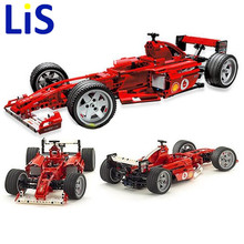 (Lis)Bricks Toy bricks China brand 3334 Compatible with Lepim Racers: Ferrari F1 Racer 1:10 Scale 8386(China)