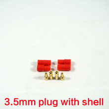 5 Pairs Airplane Drone Accessories Banana Plug 3.5mm Gold-plated Bullet Cable Connector Battery Charging Rc Lipo Connector(China)