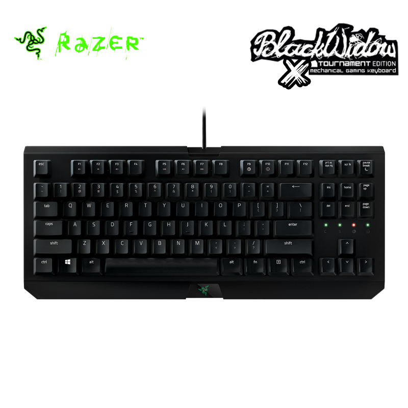 Razer BlackWidow X Tournament Edition Mechanical Gaming Keyboard Compact Layout 10 Key Roll-over Anti-ghosting Razer Keyboard(China (Mainland))