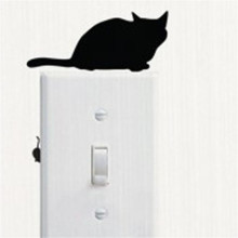 Stickers Cat Switch Sticker Room Window Wall Decorating Switch Vinyl Decal Sticker Decor Cartoon Sep13