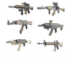 World Classic Gun AK47 M16 Assault Rifle Mini Model Building Blocks Toys for Children Compatible With lepin Bricks Gift