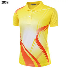 ZMSM Quick Dry Breathable Turn-down collar Women's Tennis Shirts Perfect quality sports Badminton Table Tennis clothing NM051(China)