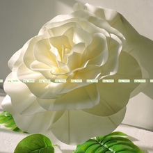2pcs PE Large 40CM / 30cm Artificial Rose Flower Wedding Home Church Decor White Cream Blue AT025