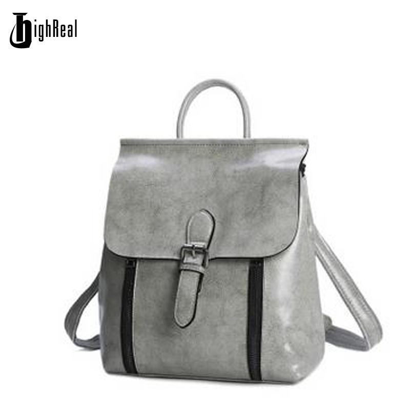 Fashion Zipper Genuine Leather Women Backpacks for Teenage Girls Ladies Pocket School Bags Supplies Female Mochila Escolar <br>