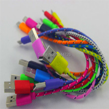 20Cm fabric nylon netting braided usb 8 pin cable Accessory Bundles  for iphone 5 5s 5c 6 support ios 10