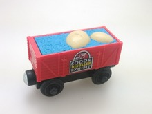 wooden Thomas and friend train Chinldren child kids plastic toys Dinosaur egg carriage with light
