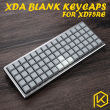 XDA blank keycaps xd75re Keyset Blank Similar to DSA For MX Mechanical Keyboard Ergo Filco Leopold Cosair Noppoo Planck