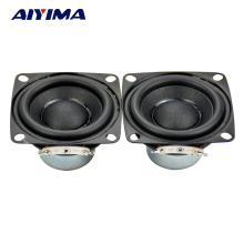 AIYIMA 2Pcs Full Range Speaker 2inch 20core 4Ohm 10W Enthusiast DIY Flat Arc Rubber Edge Neodymium Magnet HiFi Speaker