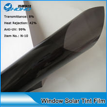 Low VLT 10% transmittance 99%UV proof solar window film for car solar mirror film with 152cmx500cm N-10(China)