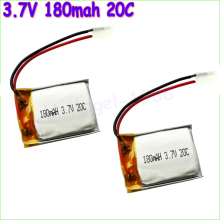 5pcs/lot 3.7V 180mAh Lipo Battery for Syma S107 S107G Skytech M3 m3 Replacement Spare Parts for Syma Skytech RC Helicopter