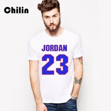 Chilin 100% Cotton T-shirt Men 2017 3XL Tshirt Summer Jordan 23 Clothing T Shirt Murray 22 Tees Shirts Tops Mens Brand Clothing(China)