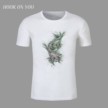 ink and wash painting two fish t-shirt high quality shirt Printed men unique short sleeve tops original t shirt brand clothing