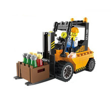 New DIY Building Blocks Toy Kit Legoings Forklift Trucks Assemble Bricks Children Educational Toy 115pcs/set(China)