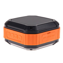 Portable Outdoor Speaker Waterproof Shower Room Bluetooth Speaker with 12 Hour Playtime 1500mAh Rechargeable Green/Orange
