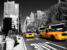 frameless canvas paintings posters New York yellow taxi vintage style decorative art reading room living room decoration